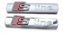 Шильдик Audi S line на переднее крыло (металл)
