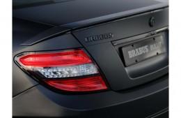 Надпись эмблема BRABUS Mercedes (черная, серебро)