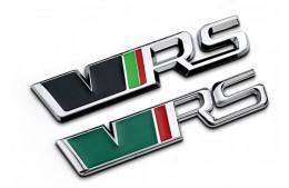Эмблема шильдик Skoda VRS на крышку багажника