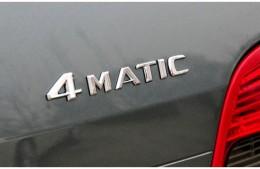 Надпись 4 matic Mercedes на крышку багажника