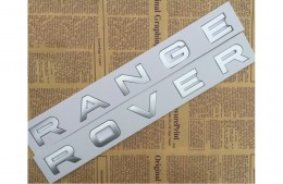 Надпись Range Rover (серебро/черный)