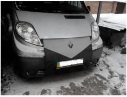 Утеплитель радиатора Renault Trafic черно-серый Probass Tuning