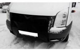 Утеплитель радиатора (с клапанами) Ford Tranzit 2006-2014 черный Probass Tuning