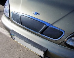 Зимняя заглушка на решетку радиатора Daewoo Lanos 1998- (решетка)