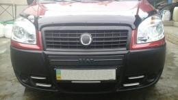 Зимняя заглушка на решетку радиатора Fiat Doblo 2006-2012 (середина)