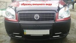 Зимняя заглушка на решетку радиатора Fiat Doblo 2006-2012 (низ)