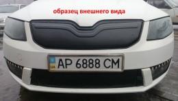Зимняя заглушка на решетку радиатора Skoda Octavia A7 2012-
