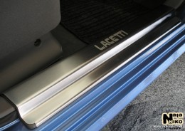 Накладки на пороги Premium Chevrolet Lacetti 2004- NataNiko