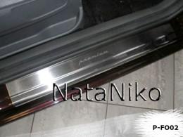 Накладки на пороги FORD C-MAX II 2010- NataNiko
