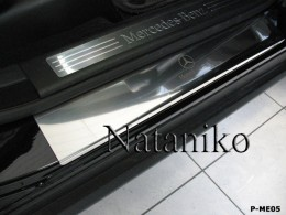NataNiko Накладки на пороги MERCEDES ML KLASSE (W164) 2005-2011