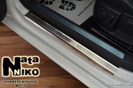 Накладки на пороги RENAULT MEGANE III GRANDTOUR 2009 NataNiko