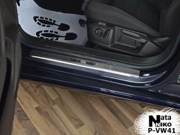 Накладки на пороги VW PASSAT B8 4D/Variant 2014- NataNiko