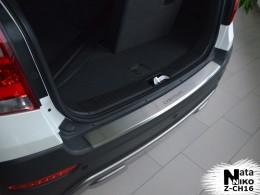 Накладка с загибом на бампер Chevrolet Captiva FL 2011- NataNiko