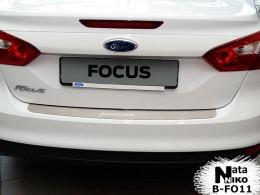 Накладка на задний бампер Ford Focus III sedan 2011-2014 NataNiko