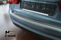 NataNiko Накладка с загибом на бампер Kia Rio III 4D 2011-
