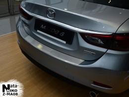 NataNiko Накладка с загибом на бампер Mazda 6 III 2013-