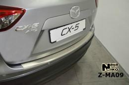 Накладка с загибом на бампер Mazda CX 5 NataNiko