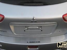 Накладка на задний бампер Mitsubishi Lancer X 5D NataNiko