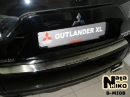 Накладка на задний бампер Mitsubishi Outlander XL NataNiko
