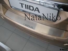 Накладка на задний бампер Nissan Tiida 5D 2004-2014 NataNiko