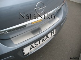 Накладка на задний бампер Opel Astra H 4D NataNiko