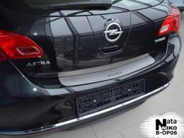 Накладка на задний бампер Opel Astra J 5D NataNiko