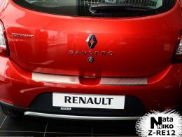 NataNiko Накладка с загибом на бампер Renault Sandero 2013-