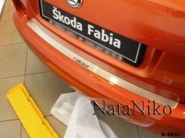 Накладка на задний бампер Skoda Fabia 5D 2007-2014 NataNiko