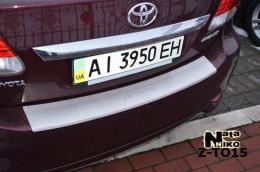 NataNiko Накладка с загибом на бампер Toyota Avensis 2011-