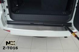 NataNiko Накладка с загибом на бампер Toyota Land Cruiser Prado 150