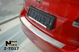 NataNiko Накладка с загибом на бампер Toyota Venza 2012-