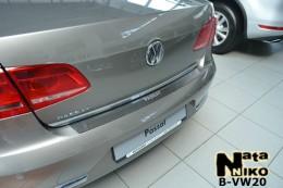 Накладка на задний бампер VW Passat B7 sedan NataNiko