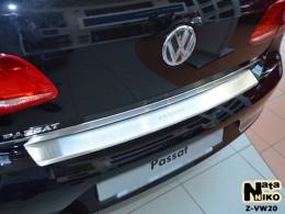 Накладка с загибом на бампер VW Passat B7 SD NataNiko