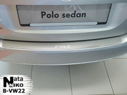 NataNiko Накладка на задний бампер VW Polo Sedan 2010-2015