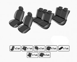 EMC-Elegant Чехлы на сидения Fiat Doblo Panorama Maxi 7 мест с 2000-09 г