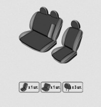 EMC-Elegant Чехлы на сидения Ford Transit с 2000–06 г (бугры)