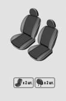 EMC-Elegant Чехлы на сидения Peugeot Partner (1+1) с 2008 г