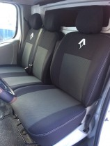 Чехлы на сидения Renault Trafic (1+2) с 2014 г EMC-Elegant
