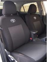 Чехлы на сидения Toyota Corolla с 2013 г (с задним подлокотником) EMC-Elegant