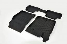 Резиновые коврики в салон Nissan Qashqai (14-) СРТК