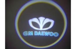 Проекция логотипа Daewoo. Проводные проекторы 5Вт