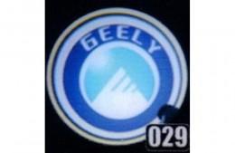 Проекция логотипа Geely. Проводные проекторы 5Вт