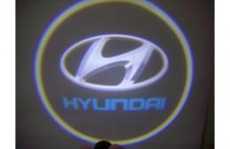 Проекция логотипа Hyundai. Проводные проекторы 5Вт