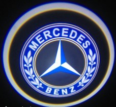 Проекция логотипа Mercedes. Проводные проекторы 5Вт