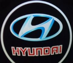 Проекция логотипа Hyundai. Беспроводные проекторы 7Вт