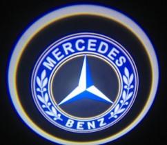Проекция логотипа Mercedes. Беспроводные проекторы Mercedes 7 Вт