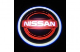 Проекция логотипа Nissan. Беспроводные проекторы Nissan 7 Вт