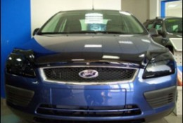 Дефлектор капота Ford Focus (2005-2007) (темный)