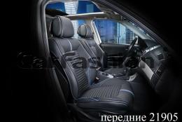 Fashion Накидка-чехол для сидений Sector черный (пара)