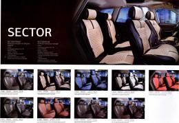 Fashion Накидка-чехол для сидений Sector бежевый (пара)